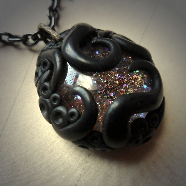 Tentacled Brown Glass Necklace