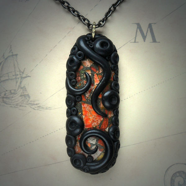 Tentacled Agate Necklace