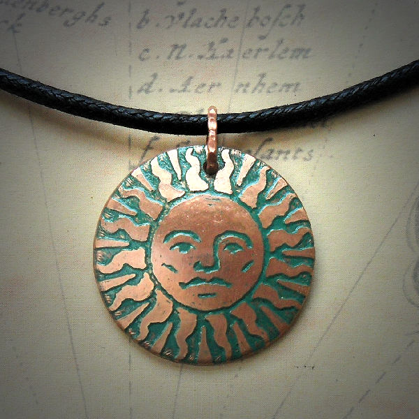 Sol Etched Copper Necklace