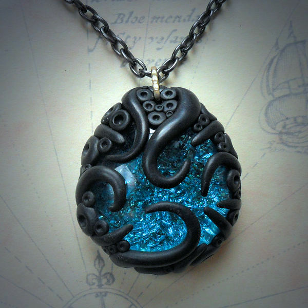 Tentacled Turquoise Glass…