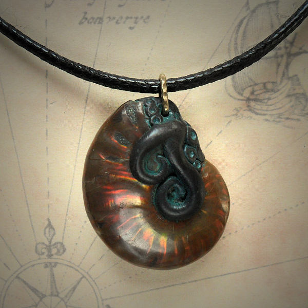 Tentacled Ammolite Necklace