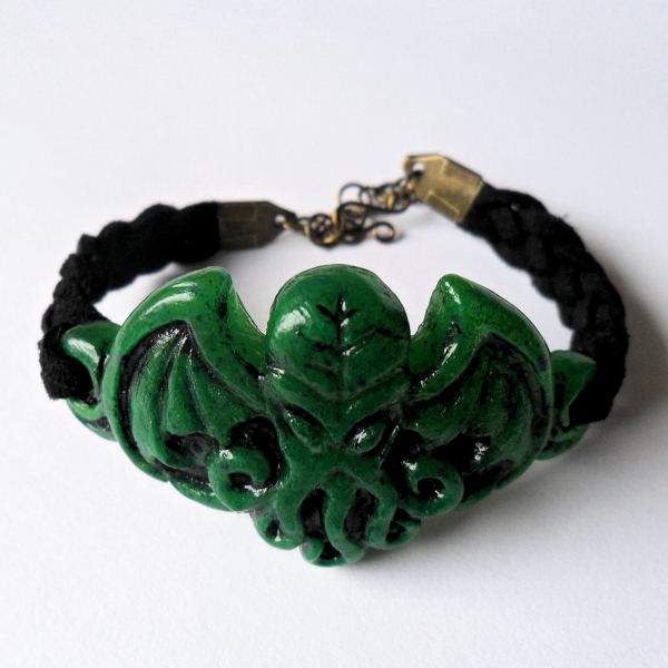Cthulhu Bracelet (green resin)
