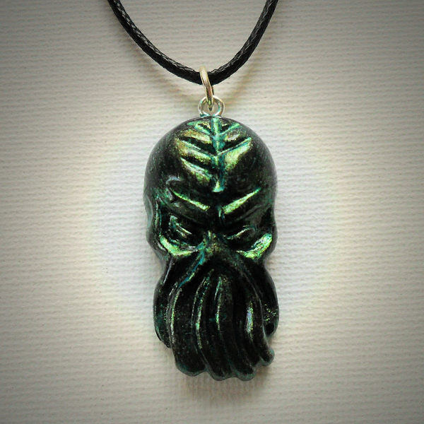 Cthulhu Elder God (iridescent green)