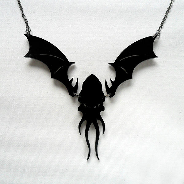 Cthulhu Perspex Necklace (black)