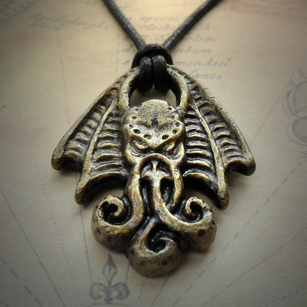 Cthulhu Head Necklace