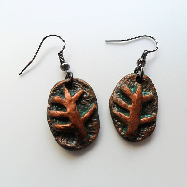 Elder Sign Copper Earrings