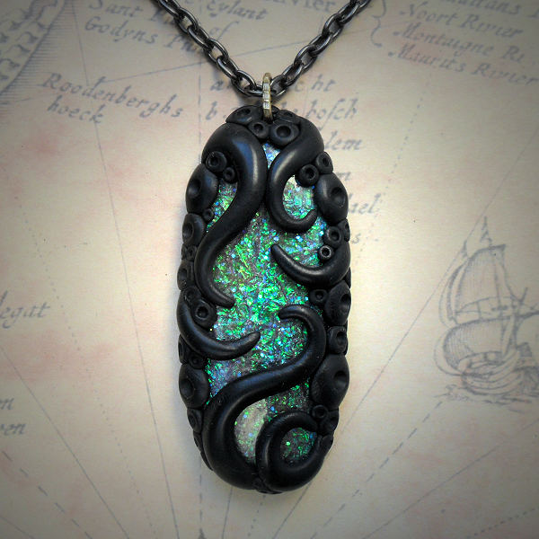 Tentacled Faux Opal Necklace