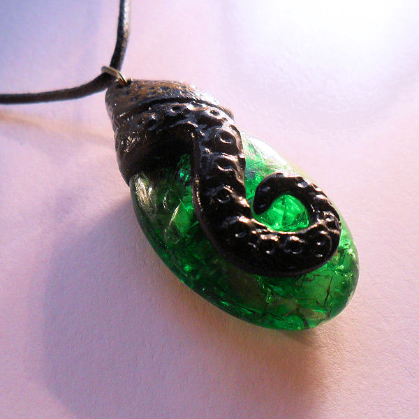 Tentacled Emerald Necklace