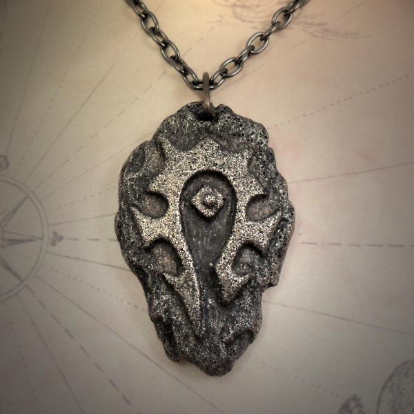Horde Symbol Necklace Brass Cthulhu Jewellery