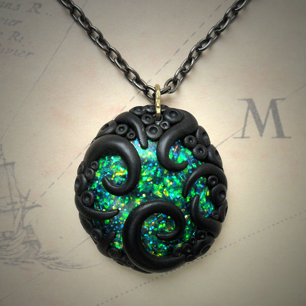 Tentacled Sparkling Necklace