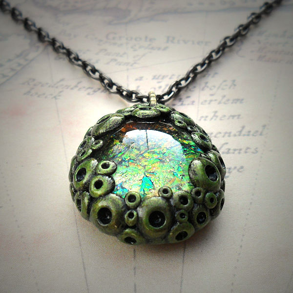 Iridescent Glass Necklace