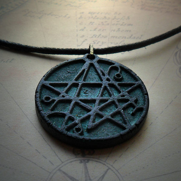 Necronomicon Necklace (sea green)