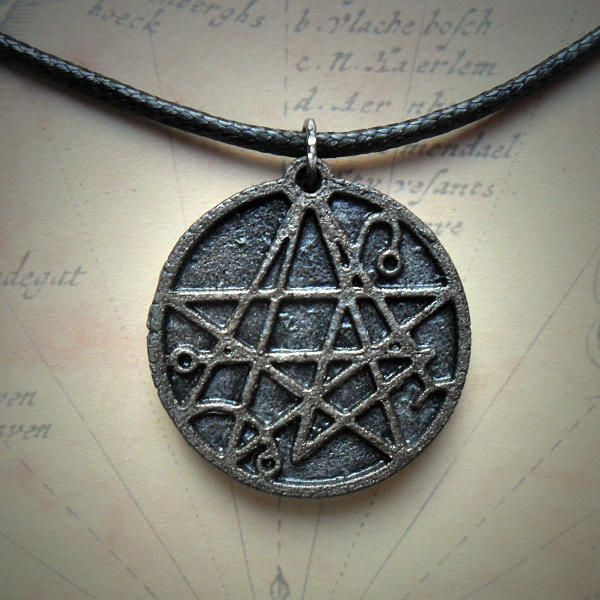Necronomicon Necklace (silver grey)