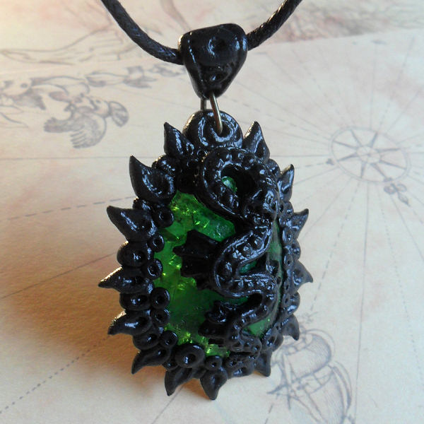 Orchid of Rlyeh Necklace