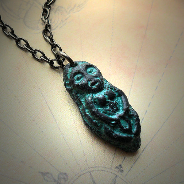 Sheela na gig Necklace (black…