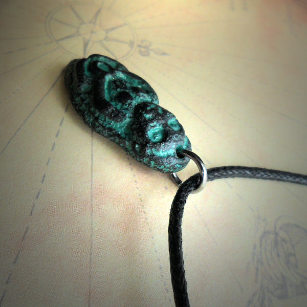 Sheela na gig Necklace (black and green)