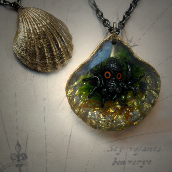 Shell Creature Necklace