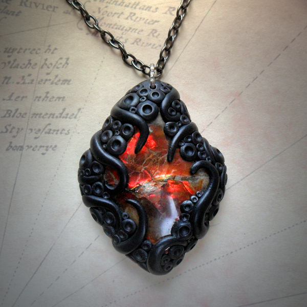 Tentacled Ammolite Necklace #2