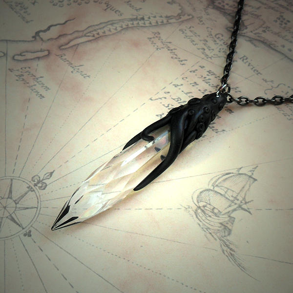 Tentacled Faceted Point Necklace