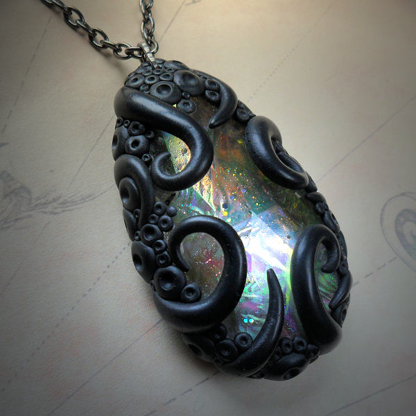 Tentacled Glass Necklace