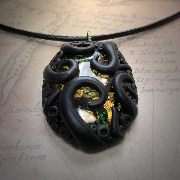 Tentacled Holographic Glass Necklace