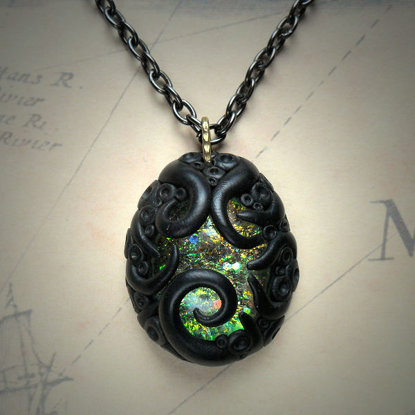 Tentacled Iridescent Necklace
