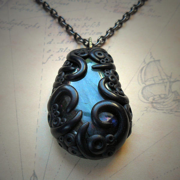 Tentacled Labradorite Necklace