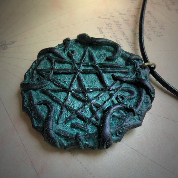 Tentacled Necronomicon Gate Necklace