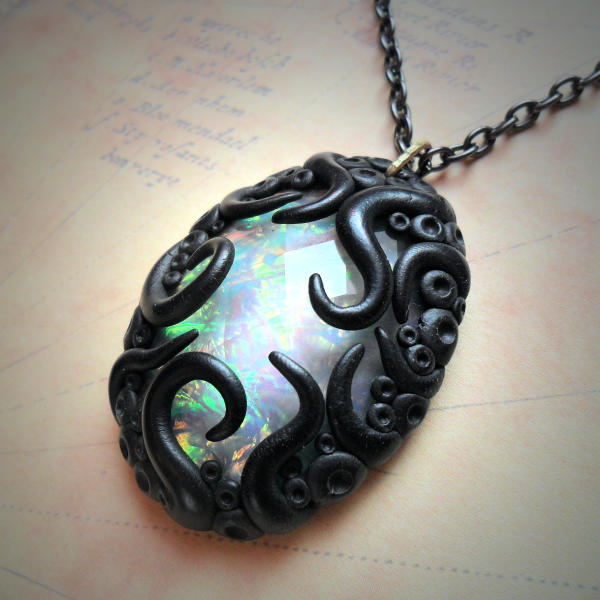 Tentacled  Opalescent Necklace