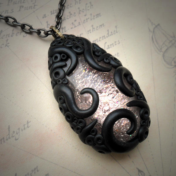 Tentacled Rose Glass Necklace