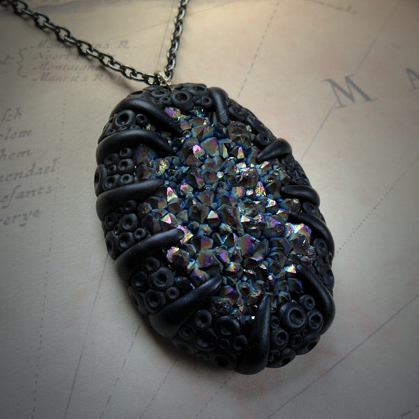 Titanium Quartz Cluster Necklace